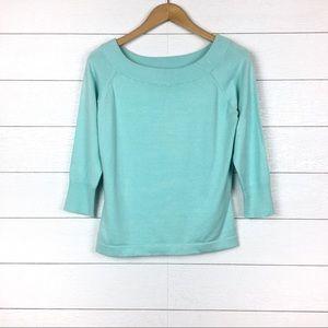 NWT Karen Kane Silk Blend Aqua Blue Sweater